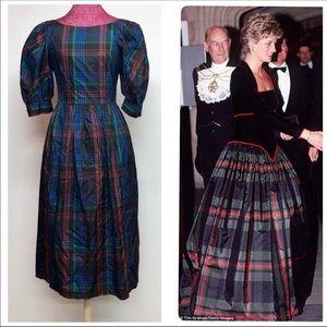 Vintage Plaid Acetate Dress